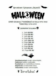 halloween-uintien kutsu